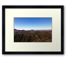 Beautiful Tasmania - Alpine landscape from the air Framed Print