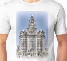 The Liver Building - Hand tinted effect Unisex T-Shirt