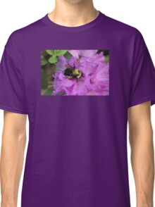 Bumble Bee on Rhododendron Classic T-Shirt