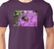 Bumble Bee on Rhododendron Unisex T-Shirt