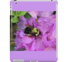 Bumble Bee on Rhododendron iPad Case/Skin