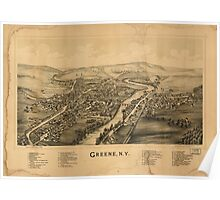 Panoramic Maps Greene NY Poster