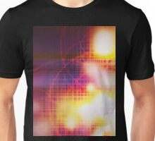 Abstract grid burned background Unisex T-Shirt