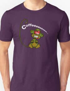 Coffee Monkey - Monday mornings... Unisex T-Shirt