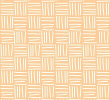 Seamless pattern with hand drawn line grid by BlueLela