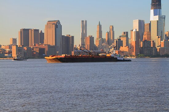 Tug & Barge on the Hudson Rv. by pmarella