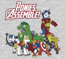 Ponies, assemble! One Piece - Short Sleeve