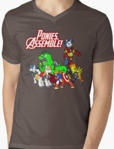Ponies, assemble! Mens V-Neck T-Shirt