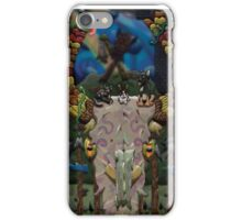 Animals on a Bovine Skull iPhone Case/Skin