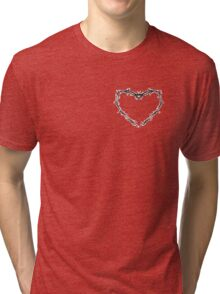 Barbed Wire Heart Tri-blend T-Shirt