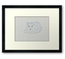 furry cat Framed Print
