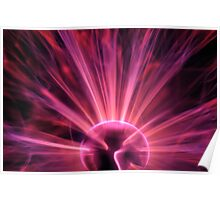Plasma ball making electric discharges Poster