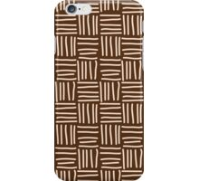 Seamless pattern with hand drawn line grid iPhone Case/Skin