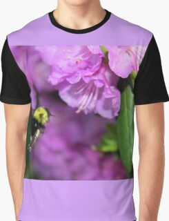 Flying Bumble Bee Collection Pollen Graphic T-Shirt