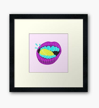 Licking Lips Framed Print