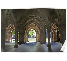 Glasgow University Cloisters Poster