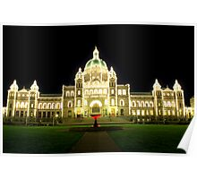 Victoria - The Legislature on a Spring Evening Poster