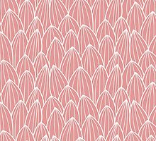 Seamless pattern with hand drawn cactus grid by BlueLela