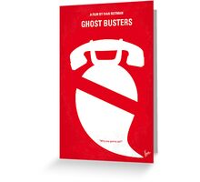 No104 My Ghost busters minimal movie poster Greeting Card