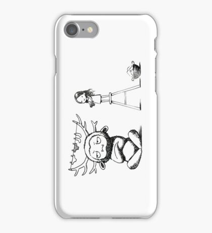 Girl and a monster iPhone Case/Skin