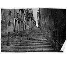 Valletta steps Poster