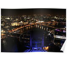 London Eye, London Night Poster