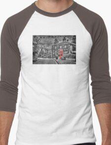 Haworth - Red Telephone Box Men's Baseball ¾ T-Shirt