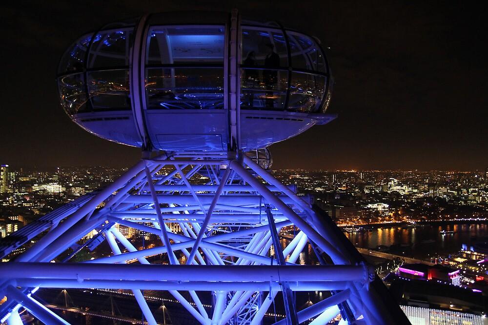London Eye High in the Night Sky by Jane McDougall