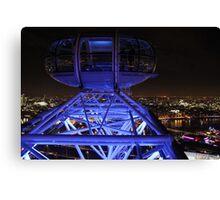 London Eye High in the Night Sky Canvas Print