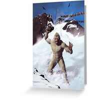 Yeti in the Death Zone Greeting Card