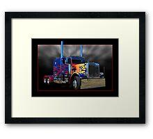 Optimus Prime Peterbilt Framed Print