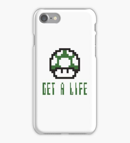 Mario: Get a life iPhone Case/Skin