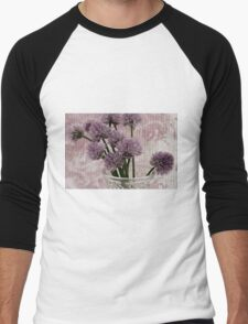 Chive Bouquet Men's Baseball ¾ T-Shirt
