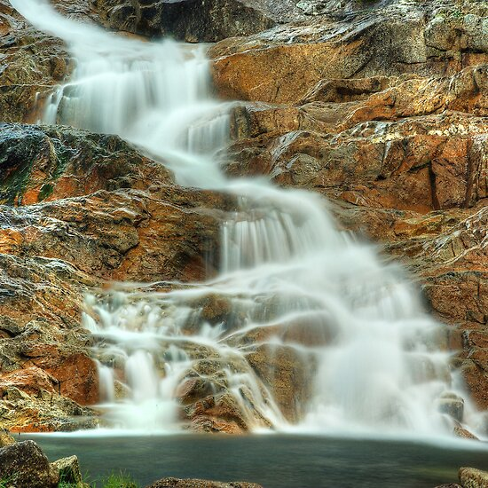 Little Buffalo Creek cascades by Kevin McGennan
