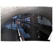 Under the Canal Bridge, Birmingham Poster