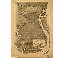 Panoramic Maps Birds eye view of Philadelphia and vicinity showing location of the Philadelphia  Reading Railroad Photographic Print