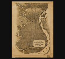 Panoramic Maps Birds eye view of Philadelphia and vicinity showing location of the Philadelphia  Reading Railroad Baby Tee