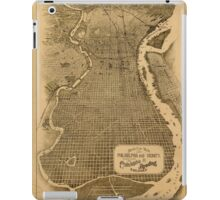 Panoramic Maps Birds eye view of Philadelphia and vicinity showing location of the Philadelphia  Reading Railroad iPad Case/Skin