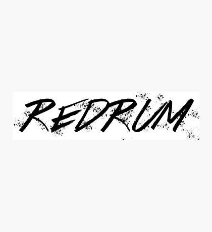 REDRUM / MURDER Photographic Print