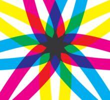 Tri-Color Sticker
