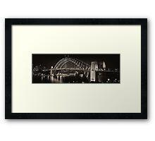 Satin Lights - City Nights Framed Print