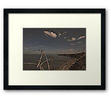 Pointe du hoc Framed Print