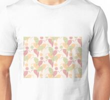 Seamless pattern with hand drawn leaves with line patterns Unisex T-Shirt