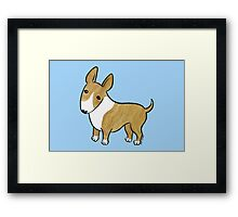 English Bull Terrier - Brindle and White Framed Print