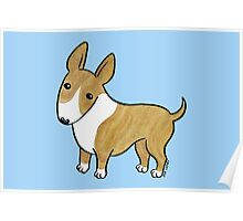 English Bull Terrier - Brindle and White Poster