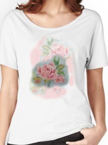 OLD FASHIONED ROSES   TEE SHIRT/BABY GROW/STICKER Women's Relaxed Fit T-Shirt
