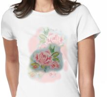 OLD FASHIONED ROSES   TEE SHIRT/BABY GROW/STICKER Womens Fitted T-Shirt