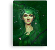 Green Nature Fairy Canvas Print