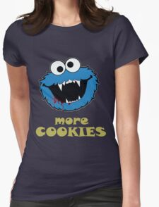 COOKIE MONSTER Womens Fitted T-Shirt