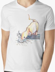 Char and the Salamander Mens V-Neck T-Shirt